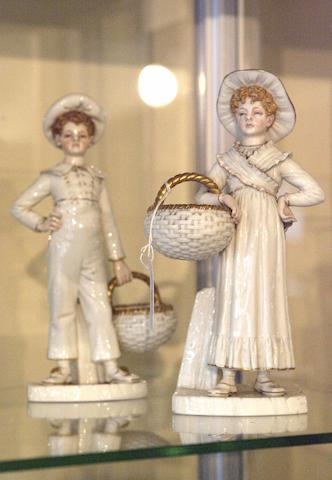 A Pair of Worcester figures,