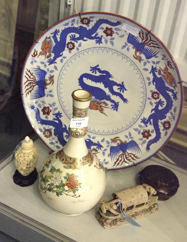A Satsuma bottle vase Meiji period