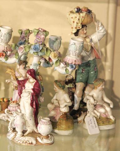 A quantity of Dresden porcelain,