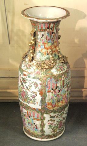 A large Canton porcelain vase, 19th century,