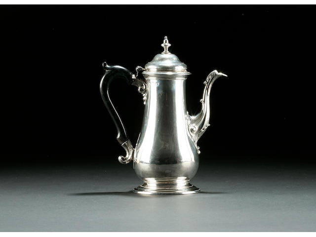 A George III baluster coffee pot by John Swift, 1761
