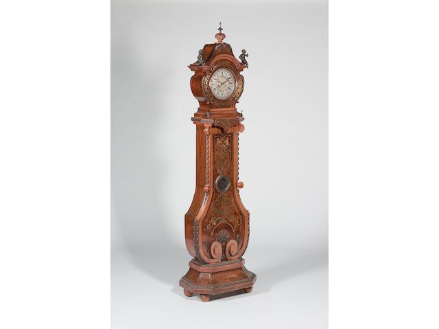 A Continental longcase clock