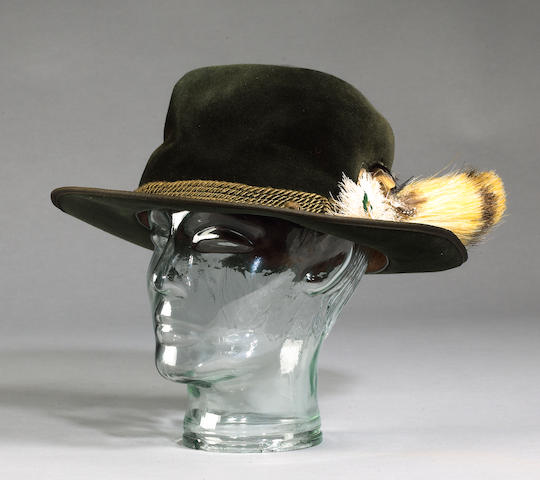 A Trilby hat and feather as used by David Niven playing Sir James Bond in Casino Royale