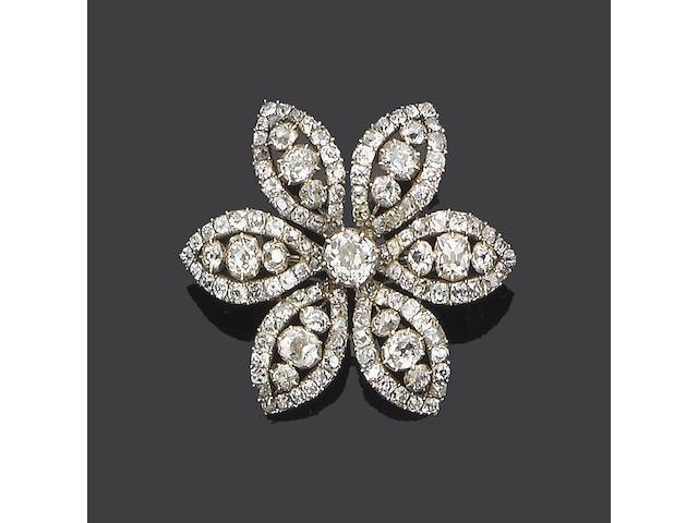 A late 18th century diamond dress ornament,