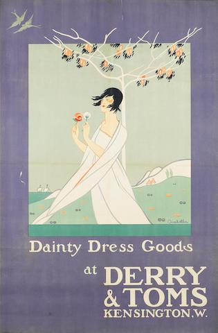 Arabella Dainty Dress Goods at Derry & Toms circa 1920, 1500 x 970mm (59 x 38 1/8in)(SH)