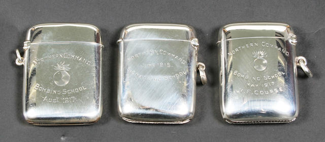 Military interest- a vesta case By Suckling Ltd, Chester, 1916,  (3)