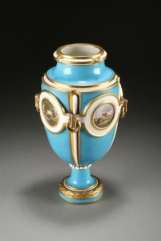 An English porcelain vase, circa 1870-90