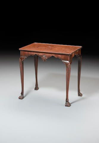 An 18th century mahogany silver table,