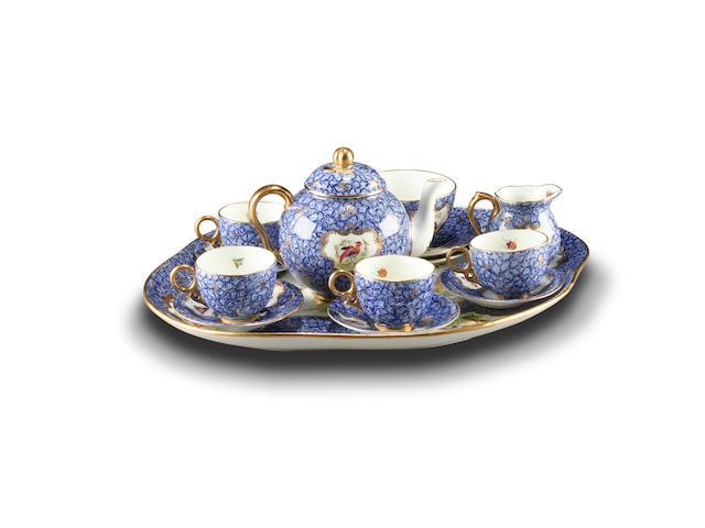 A small Coalport cabaret tea set, circa 1920-30