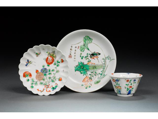 A famille verte saucer-dish, Kangxi