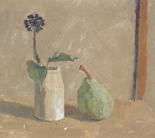Euan Uglow (British, 1932-2000)Still Life 23.5 x 25.5 cm. (9 1/4 x 10 in.)