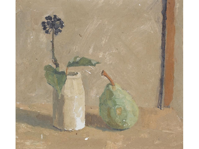 Euan Uglow (British, 1932-2000) Still Life 23.5 x 25.5 cm. (9 1/4 x 10 in.) (Painted in 1962 (according to a label verso))