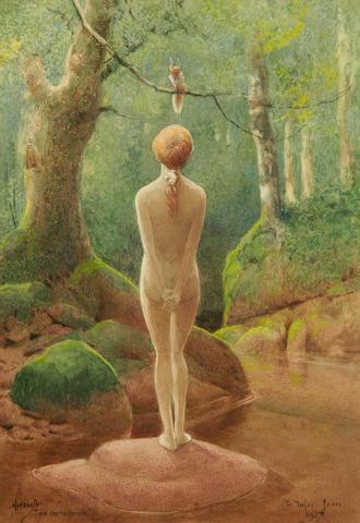John Hassall, R.I., R.W.A., R.M.S.  (British, 1868-1948) 'The Intruder'