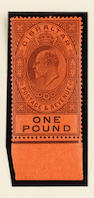 Gibraltar: 1903 ½d. to £1 (S.G.46-55), the top value marginal, a few odd tones, otherwise fine o.g. (143)