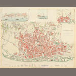 Unknown - Street map of Liverpool, coloured  Society for the Diffusion of Useful Knowledge  Liverpool, a town plan with vignettes, after John Gage,