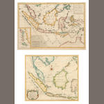 South East Asia  Bellin (N) Carte des Isles de Java, Sumatra, Borneo and ..., engraved map, hand coloured, 25 x 28.5 cm, also Bonne (M) Carte des Isles de la Sonde, et des Isles Moluques, engraved map, hand coloured, (2),