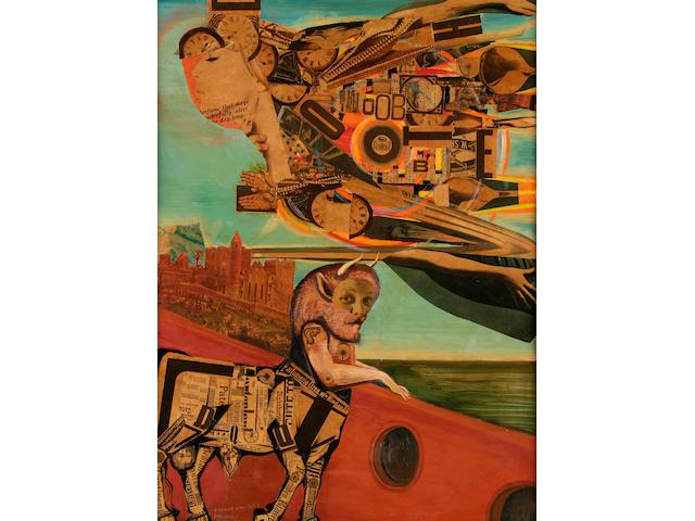 "George Wallace Jardine (British, born 1920)  George W. Jardine  ""Minotaur and Chariot of the Sun"","