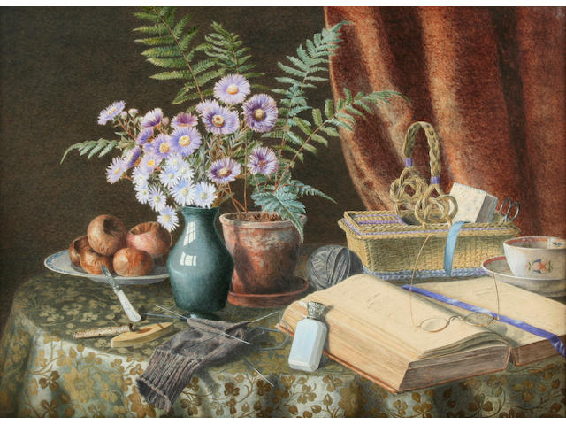 "Watercolour 'Granny's Table' Jessie Chase  Jessie Chase  ""Granny's Table"","