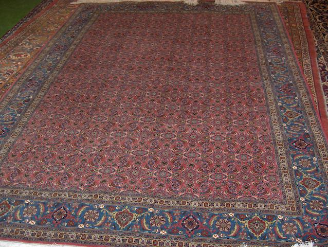 A Tabriz part silk carpet North West Persia, 288cm x 208cm