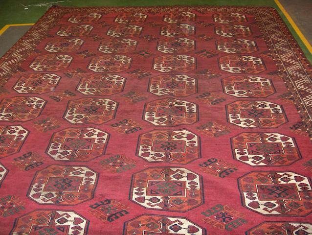 An Ersari carpet West Turkestan, 415cm x 295cm