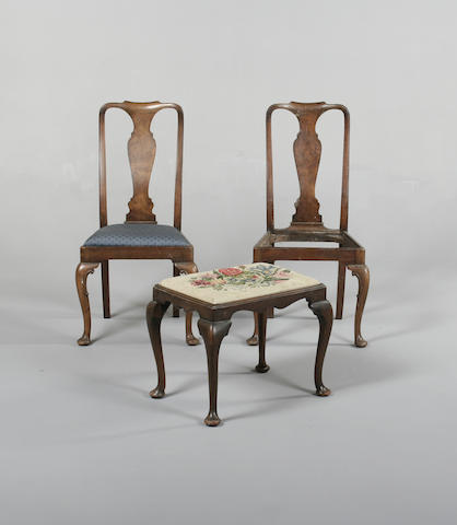 A George II style mahogany stool