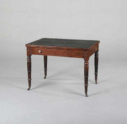 A Victorian mahogany writing table