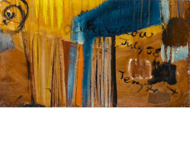 Sir Terry Frost R.A. (British, 1915-2003)Ochre and Yellow 44 x 78 cm. (17 1/4 x 30 3/4 in.)