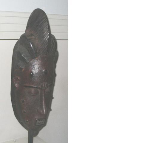 Three West African hardwood masks