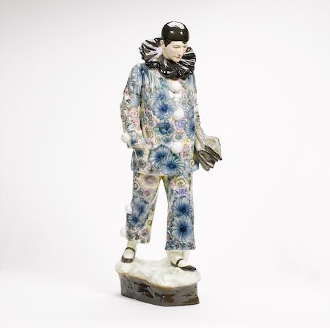 Haniroff for Goldscheider A Large Pottery Figure of a Pierrot, circa 1920