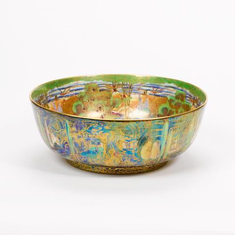 Daisy Makeig-Jones A Large Fairyland Lustre Imperial Bowl, circa 1920