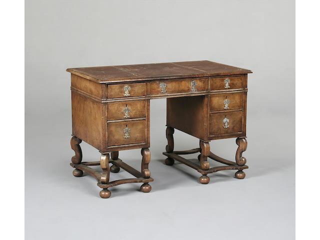 A late Victorian walnut writing desk
