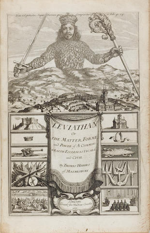 HOBBES (THOMAS) Leviathan, or, the Matter, Forme, & Power of a Commonwealth, Ecclesiasticall and Civill, FIRST EDITION, FIRST ISSUE