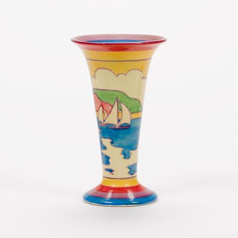 Clarice Cliff A 'Gibraltar' Vase, circa 1931