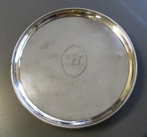 A George III silver waiter, by Crouch & Hannam, London 1784,
