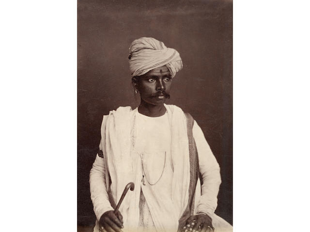 HOOPER (WILLOUGHBY WALLACE) Native portraits, Hyderabad and beyond, 1870s