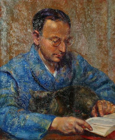 Clara Klinghoffer (British, 1900-1972)Portrait of artist's husband, Joseph W.F Stoppelman