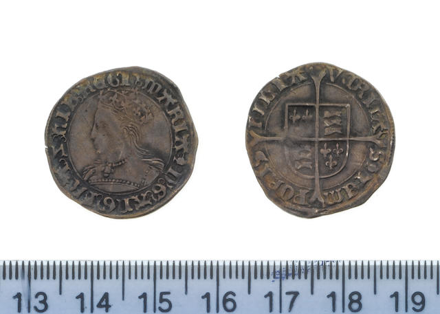 Mary, Groat, crowned bust left, MARIA D G ANG FRA HIB REGI,