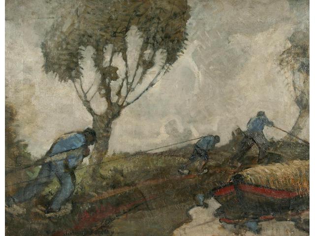 John Rankin Barclay 'A Tow Path in Holland'