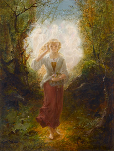 Robert Brydall (British, 1839-1907)The fairy woods 40.5 x 30.5 cm. (16 x 12 in.)