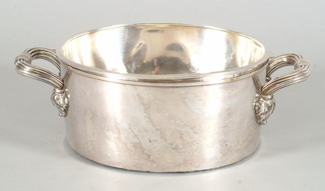 A vegetable bowl with silver liner, Matthew Boulton, Birmingham 1822,  (2)