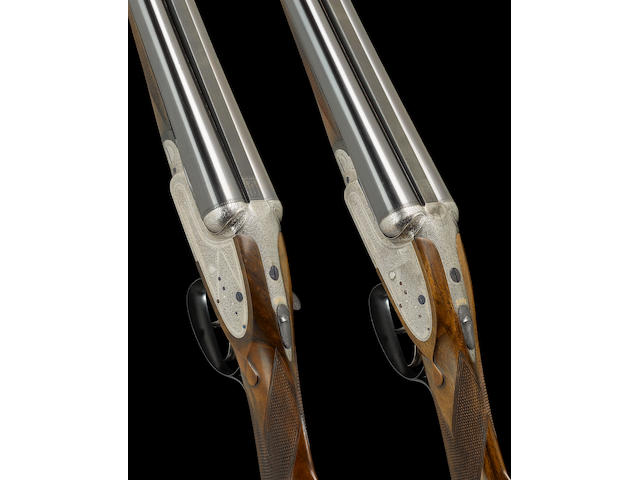 A fine pair of 12-bore sidelock ejector guns by S. Grant, no. 6197/8