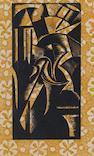 Paul Nash (British, 1889-1946) Abstract No 1 Woodcut, 1924, from the second edition of 15 proofs on
