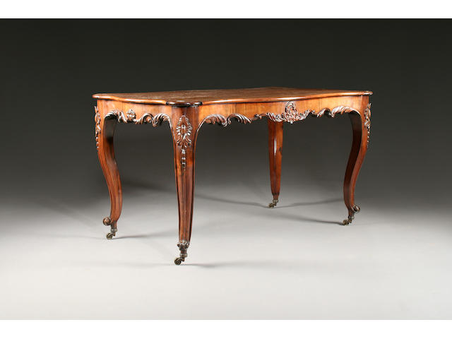 A mid 19th Century Rosewood centre table