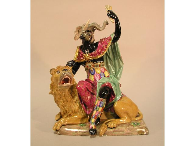 A 19th Century allegorical porcelain group of Africa