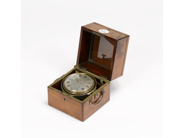 A mid 19th century two day marine chronometer  Dent, London, Maker to the Queen, numbered 1880