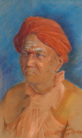 V G Kulkarni (India, 20th Century) Portrait of a Man (A. Sanyasi)