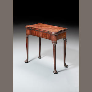 A George II mahogany triple top Card Table