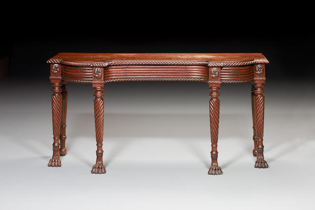 An Irish Regency  mahogany Serving Table