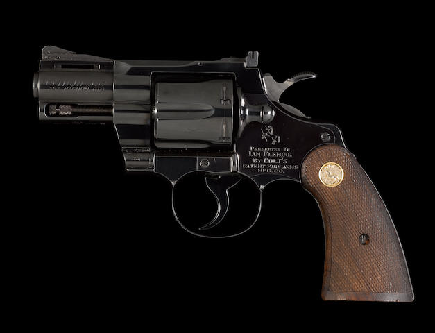 A fine Colt Python .357 Magnum revolver by Colt, no. 35459 presented to the famous James Bond author Ian Fleming in 1964 The bore excellent.  In the maker's carton with the Colt three bladed flat turn-screw, bore brush and target