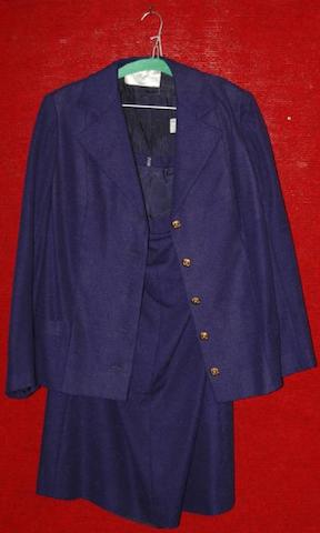 Ingrid Bergman from A Woman Called Golda, 1982 A blue wool two piece skirt suit